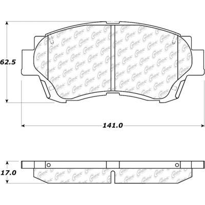 C-Tek Semi-Metallic Brake Pads with Shims, C-Tek 102.04760