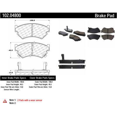 C-Tek Semi-Metallic Brake Pads with Shims, C-Tek 102.04800