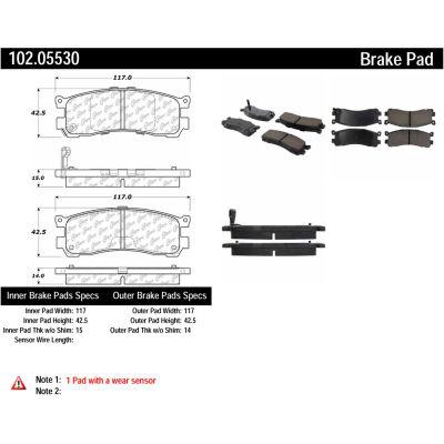 C-Tek Semi-Metallic Brake Pads with Shims, C-Tek 102.05530