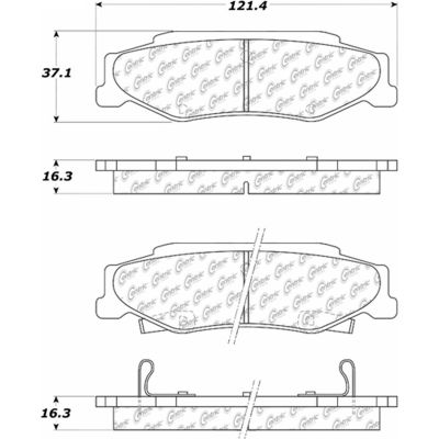 C-Tek Semi-Metallic Brake Pads with Shims, C-Tek 102.07320