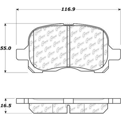 C-Tek Semi-Metallic Brake Pads with Shims, C-Tek 102.07410