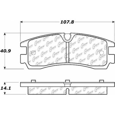 C-Tek Semi-Metallic Brake Pads with Shims, C-Tek 102.07540