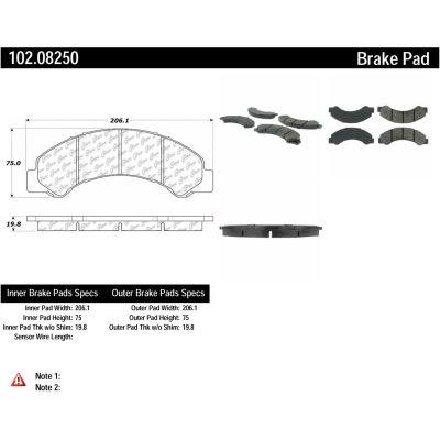C-Tek Semi-Metallic Brake Pads with Shims, C-Tek 102.08250