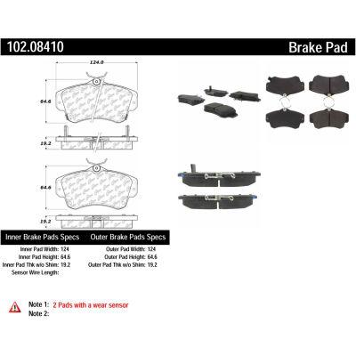C-Tek Semi-Metallic Brake Pads with Shims, C-Tek 102.08410