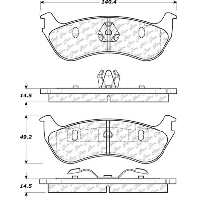 C-Tek Semi-Metallic Brake Pads with Shims, C-Tek 102.08810