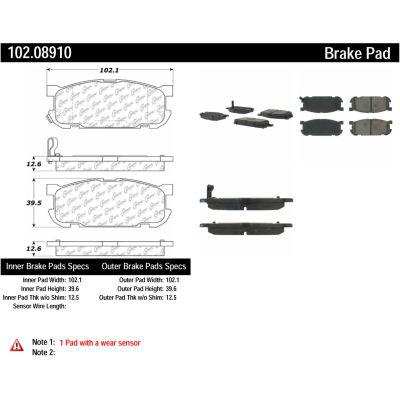 C-Tek Semi-Metallic Brake Pads with Shims, C-Tek 102.08910
