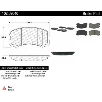 C-Tek Semi-Metallic Brake Pads with Shims, C-Tek 102.09040