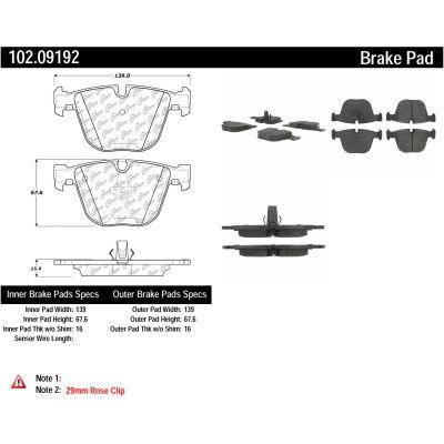 C-Tek Semi-Metallic Brake Pads with Shims, C-Tek 102.09192