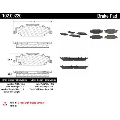 C-Tek Semi-Metallic Brake Pads with Shims, C-Tek 102.09220
