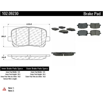 C-Tek Semi-Metallic Brake Pads with Shims, C-Tek 102.09230