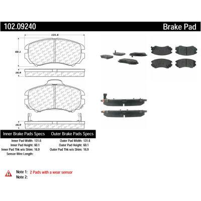 C-Tek Semi-Metallic Brake Pads with Shims, C-Tek 102.09240