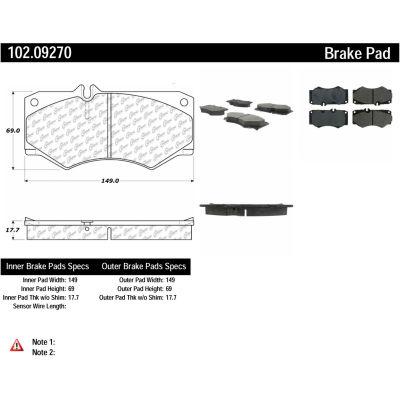 C-Tek Semi-Metallic Brake Pads with Shims, C-Tek 102.09270