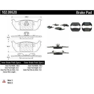 C-Tek Semi-Metallic Brake Pads with Shims, C-Tek 102.09520