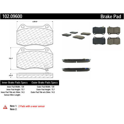 C-Tek Semi-Metallic Brake Pads with Shims, C-Tek 102.09600