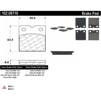 C-Tek Semi-Metallic Brake Pads with Shims, C-Tek 102.09710