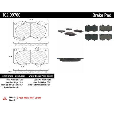 C-Tek Semi-Metallic Brake Pads with Shims, C-Tek 102.09760