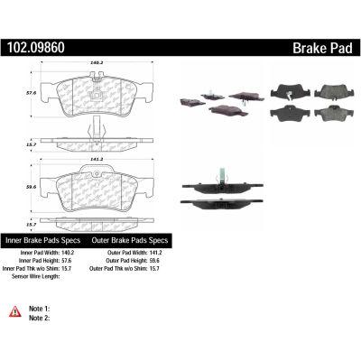 C-Tek Semi-Metallic Brake Pads with Shims, C-Tek 102.09860