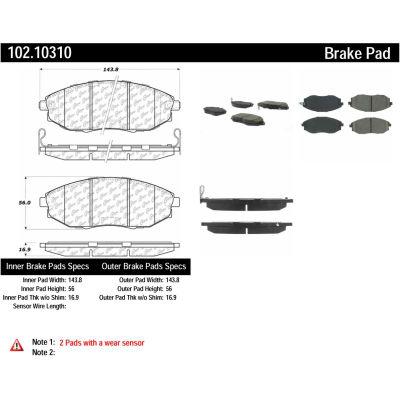C-Tek Semi-Metallic Brake Pads with Shims, C-Tek 102.10310