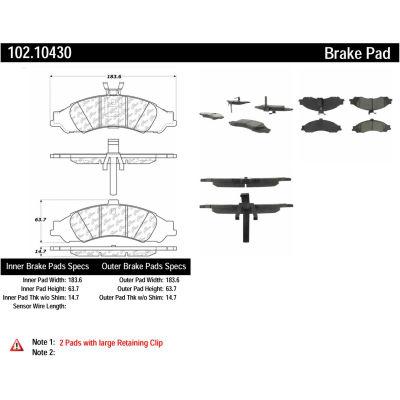 C-Tek Semi-Metallic Brake Pads with Shims, C-Tek 102.10430