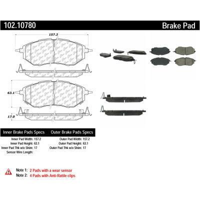 C-Tek Semi-Metallic Brake Pads with Shims, C-Tek 102.10780