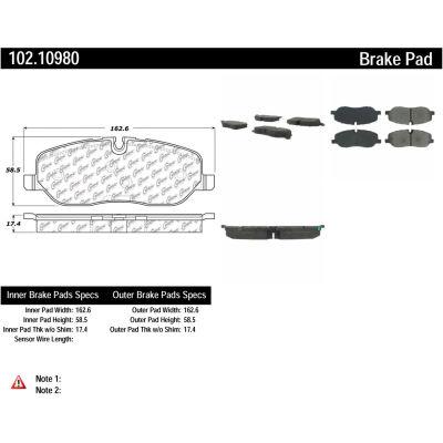 C-Tek Semi-Metallic Brake Pads with Shims, C-Tek 102.10980