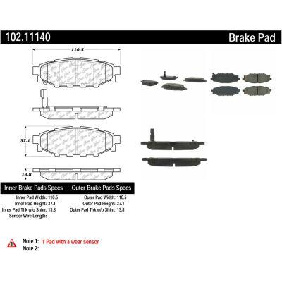 C-Tek Semi-Metallic Brake Pads with Shims, C-Tek 102.11140