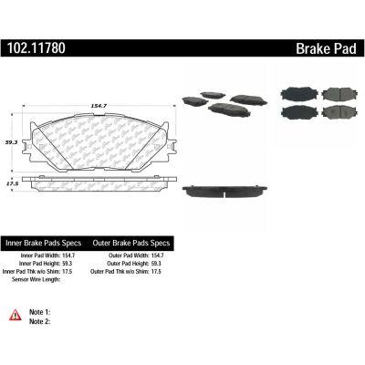 C-Tek Semi-Metallic Brake Pads with Shims, C-Tek 102.11780