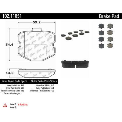C-Tek Semi-Metallic Brake Pads with Shims, C-Tek 102.11851