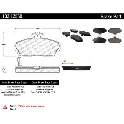 C-Tek Semi-Metallic Brake Pads with Shims, C-Tek 102.12550