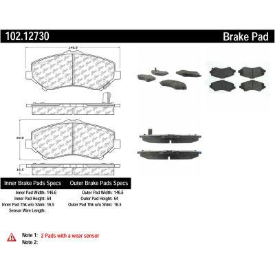C-Tek Semi-Metallic Brake Pads with Shims, C-Tek 102.12730