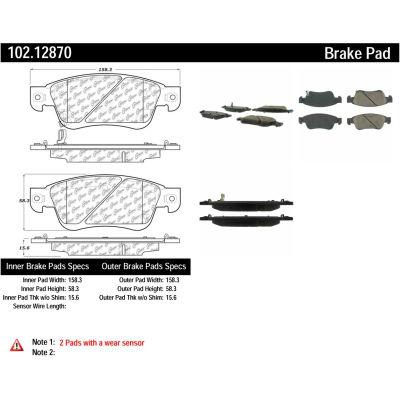 C-Tek Semi-Metallic Brake Pads with Shims, C-Tek 102.12870