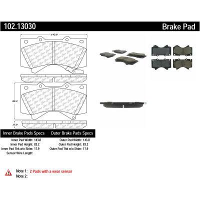 C-Tek Semi-Metallic Brake Pads with Shims, C-Tek 102.13030