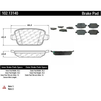 C-Tek Semi-Metallic Brake Pads with Shims, C-Tek 102.13140