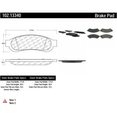 C-Tek Semi-Metallic Brake Pads with Shims, C-Tek 102.13340