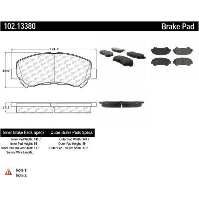 C-Tek Semi-Metallic Brake Pads with Shims, C-Tek 102.13380