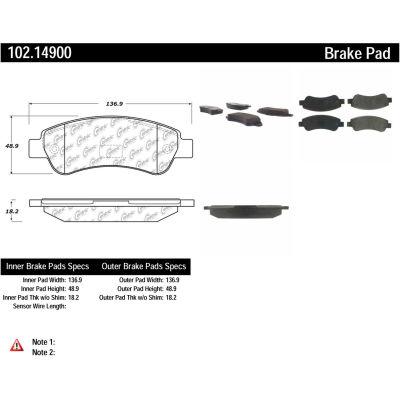 C-Tek Semi-Metallic Brake Pads with Shims, C-Tek 102.14900