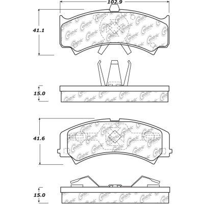 C-Tek Semi-Metallic Brake Pads with Shims, C-Tek 102.15120
