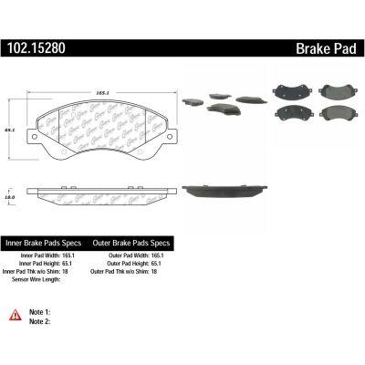 C-Tek Semi-Metallic Brake Pads with Shims, C-Tek 102.15280