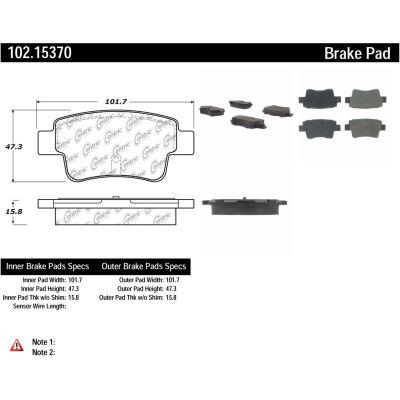 C-Tek Semi-Metallic Brake Pads with Shims, C-Tek 102.15370