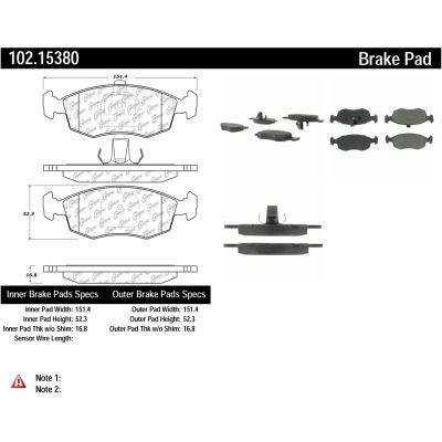 C-Tek Semi-Metallic Brake Pads with Shims, C-Tek 102.15380
