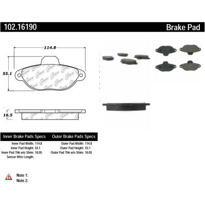 C-Tek Semi-Metallic Brake Pads with Shims, C-Tek 102.16190