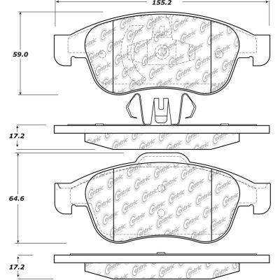 C-Tek Semi-Metallic Brake Pads with Shims, C-Tek 102.16270