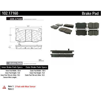 C-Tek Semi-Metallic Brake Pads with Shims, C-Tek 102.17160