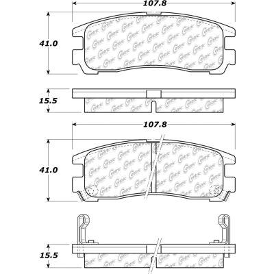 C-Tek Ceramic Brake Pads with Shims, C-Tek 103.03830
