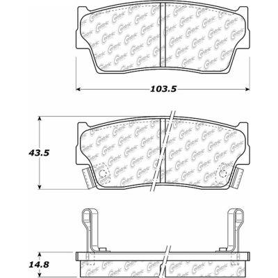 C-Tek Ceramic Brake Pads with Shims, C-Tek 103.04180