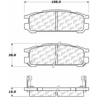 C-Tek Ceramic Brake Pads with Shims, C-Tek 103.04710