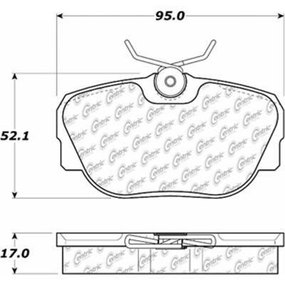 C-Tek Ceramic Brake Pads with Shims, C-Tek 103.04930