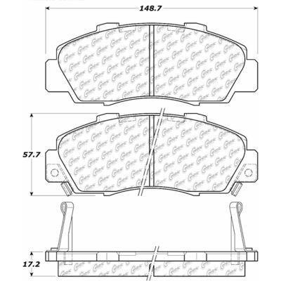 C-Tek Ceramic Brake Pads with Shims, C-Tek 103.05030