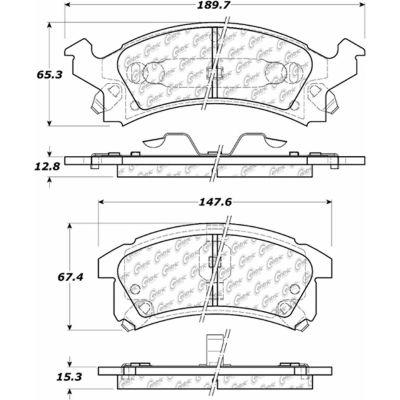 C-Tek Ceramic Brake Pads with Shims, C-Tek 103.05060