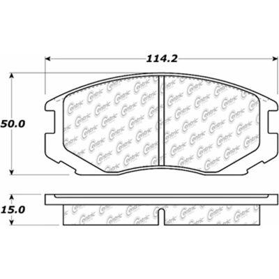 C-Tek Ceramic Brake Pads with Shims, C-Tek 103.06020